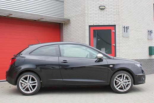 Rijervaring Chiptuning Seat Ibiza 1.4 TSI 150 PK Zijkant