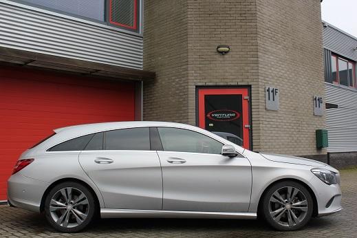 Rijervaring Chiptuning Mercedes CLA 200 CDI 136 PK Zijkant