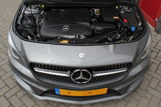 Rijervaring Chiptuning Mercedes CLA 200 CGI 156 PK automaat Voorkant